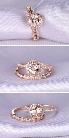 24 Rose Gold Engagement Rings That Melt Your Heart Rose gold engagement rings ha. - 24 Rose Gold Engagement Rings That Melt Your Heart Rose gold engagement rings have… – www. Dream Engagement Rings, Rose Gold Engagement Ring, Solitaire Engagement, Wedding Engagement, Wedding Bands, Wedding Reception, Engagement Bands, Design An Engagement Ring, Lesbian Wedding Rings