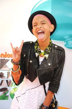 Willow Smith at the 2012 Nickelodeon Kids' Choice Awards in Los Angeles, California.