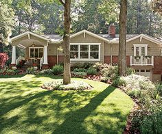 Many homeowners think of their front yard as one band of land between the sidewalk and the home: http://www.bhg.com/gardening/landscaping-projects/landscape-basics/front-yard-landscape-secrets/?socsrc=bhgpin031314breakitup&page=10