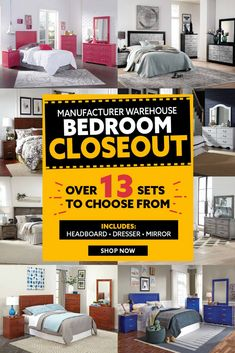 Choose from over 13 of our favorite 3 PC bedroom sets during our manufacturer warehouse bedroom closeout event. Black Bedroom Sets, Gray Bedroom, American Freight Furniture, Mansion Bedroom, Mirror Shop, Dresser With Mirror, Awesome Bedrooms, Warehouse, Mattress