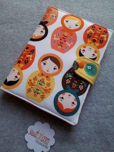 eReader Cover in Matryoshka Doll,Little Kukla Retro, Suzanne Ultman via Sew It Girl...LOVE this!!!