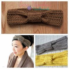 Casual Crochet Headband Adult Size (Various colors available). $10.00, via Etsy.
