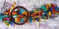 Santin Art-Circle Of Magic-Modern Canvas Art Wall Decor-Abstract Oil Painting Wall Art Santin Art http://www.amazon.com/dp/B00JWGF3VO/ref=cm_sw_r_pi_dp_rFkJtb1MWQSFCKR2