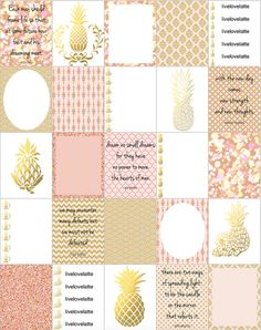 Pink Champagne Pineapple Inspired Erin Condren Sticker (Repost vom etsy Shop @ LiveLoveLatte) ..meine Erin Condren Lifeplanner Review's in Deutsch auf www.all-my-pretty-things.com und Video's YouTube @MarinRoj mit Angaben wo ihr in/aus Deutschland online bestellen bzw kaufen könnt. (Nicht Amazon) (Planner Planer Kalender) ...Inspired by Pinterest and Tumblr, these {pink & gold stickers} make a wonderful addition to your {paper journey} Great for your {life planner, rose gold