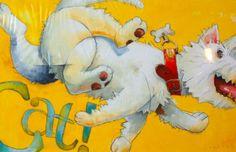 David Shannon, Children's Book Illustration, Illustrations, Childrens Books, Rooster, Fairy Tales, Dinosaur Stuffed Animal, Cats, Animals