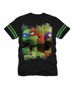 Take a look at this Black & Green TMNT Tee - Kids by Teenage Mutant Ninja Turtles on #zulily today!