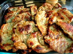 Grilovaná marinovaná krkovička (fotorecept) - recept | Varecha.sk Food And Drink, Chicken, Meat, Red Peppers, Crickets, Cubs