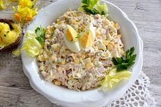 z cukrem pudrem: Wielkanocna sałatka teściowej Vegetable Salad, Chicken Salad, Fried Rice, Ham, Food To Make, Grains, Food And Drink, Menu, Vegetables