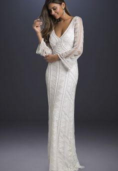 88396765a 23 Beautiful Wedding Gowns With Sleeves That Will Make You Say