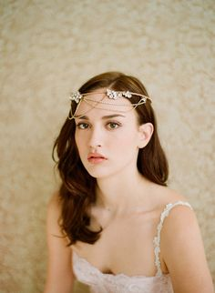 Golden whimsy crown with swags | Twigs & Honey