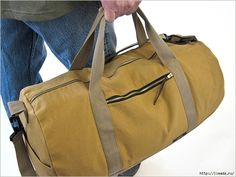 Free sewing tutorial for Safari Duffle in Canvas & Faux Leather Duffle Bag Patterns, Bag Patterns To Sew, Sewing Patterns, Quilting Patterns, Sewing Men, Free Sewing, Safari, Leather Duffle Bag, Duffel Bag