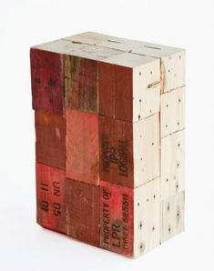 Stools made from pallet wooden blocks 4