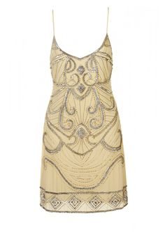Lemon Strappy Beaded Dress - New In