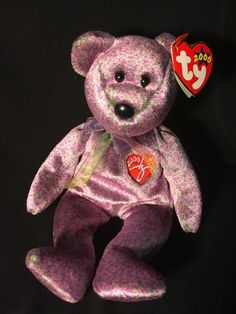 TY Beanie Baby 2000 Signature Bear by JewelzVintage on Etsy Ty Babies 001098290524