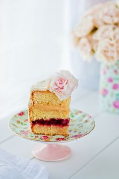 A Perfect Cake filled with homemade strawberry and homemade dulce de leche — Lulu's Sweet Secrets