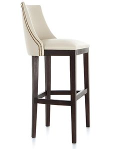 The Jock high back curved wing bar stool is a bar classic, handmade to compliment any setting. Fully upholstered and available in a choice of wood finishes.