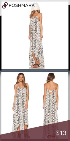 Serpentine print maxi dress Light weight skinny strap maxi dress. Dress up with heels and a clutch or down with sandals and a beach 😎.                                                       (not kardashian kollection, used for brand name recognition). Kardashian Kollection Dresses Maxi