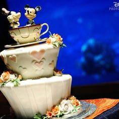 Mickey & Minnie Teacup Wedding Cake