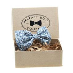 Liberty Bow Tie in Navy and Blue Floral - Self-Tie, Pre-Tied, Boy's Sizes, Pocket Squares & Cufflinks available Belfast, Gifts For Father, Gifts For Him, Kraft Gift Boxes, Cufflink Set, Beautiful Hands, Liberty, Birthdays, Presents