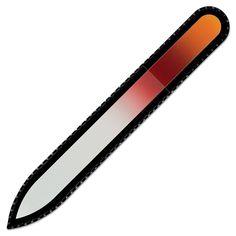 Lima de uñas de cristal de color en estuche de terciopelo negro, vidrio templado checo auténtico, Garantía de por vida | Fabricado a mano en la República Checa: Amazon.es: Belleza