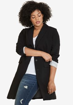 Shop for Long Boyfriend Blazer by Ellos® and more Plus Size Jackets and Blazers from fullbeauty. Your Online Fashion Mall for Sizes 12W to 44W