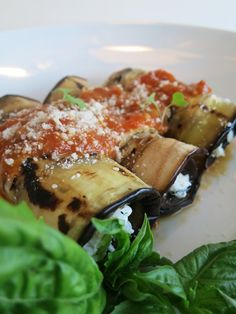 Eggplant Rollatini the Healthier Way
