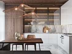 50 Lovely L-Shaped Kitchen Designs & Tips You Can Use From Them - Luxury Kitchen Remodel Light Wood Kitchens, Cool Kitchens, White Kitchens, Home Decor Kitchen, Interior Design Kitchen, Kitchen Design Trends 2018, Kitchen Ideas, Kitchen Small, Kitchen Modern