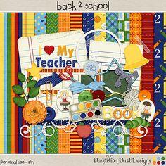 Digital Scrapbooking Back 2 School Kit By Dandelion Dust Designs #DandelionDustDesigns #DigitalScrapbooking #Back2School #BackToSchool