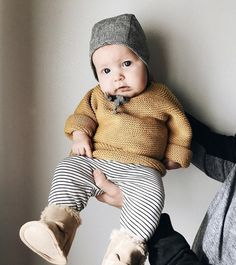 Hey, cutie. We think our Natural Stripe bonnet = the perfect neutral. Now available lined in cotton, or in our ultra-warm organic cotton Sherpa! : @thefurryelephant