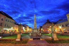 Statue of Immaculata in Kosice by night, Slovakia, HDR Famous Places, Hdr, Travel Photos, Fine Art America, Statue, Mansions, House Styles, Beautiful, Travel Pictures