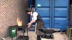 A demonstration of fire welding without flux (How to)