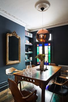 Interior of London victorian terraced house by Trunk -★-dining room