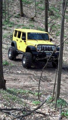 We observe the Jeep in it's natural habitat. Jeep Jk, Jeep Truck, 4x4 Trucks, Ford Trucks, Lifted Trucks, Hummer, Jeep Land Rover, Badass Jeep, Cool Jeeps