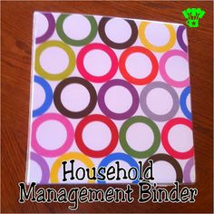 Household Management Binder.  Finally get it all together in 2014!