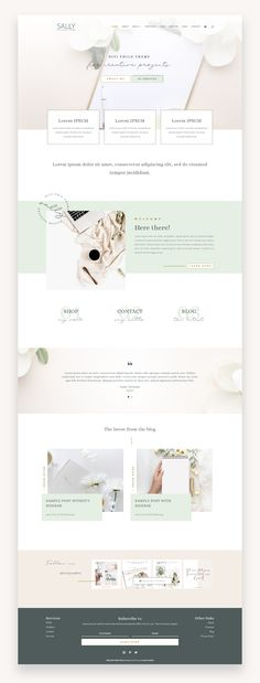 Feminine Divi Child Themes designed for bloggers and creatives. Make you website unique and beautiful thanks to its visual builder #webdesign Site Web Design, Website Design Layout, Blog Layout, Web Design Trends, Web Layout, Page Design, Layout Design, Website Designs, Ui Design