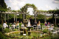 Fearrington is best known for Southern garden weddings - this is Jenny's Garden and it is perfect for a small intimate wedding ceremony