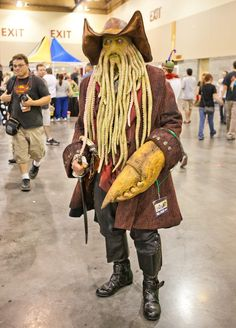 Davy Jones, Pirates of the Caribbean cosplay. View more EPIC cosplay at http://pinterest.com/SuburbanFandom/cosplay/