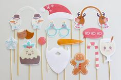 Tis the season for giving!And we're kicking it off by giving you these fun White Christmas photo booth props anddecorations. Give all the people who've made a