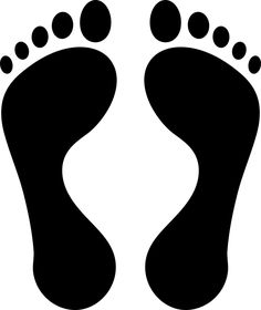 Icon Foot Feet - Free vector graphic on Pixabay Yoga For Kids, Diy For Kids, Crafts For Kids, Family Fun Games, Games For Kids, Hand Outline, Feet Images, Hand Silhouette, Hand Sticker
