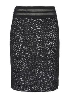Incorporate lace in the workplace with a modest Blumarine knee-length skirt