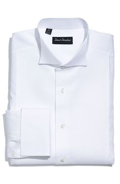 David Donahue Piqué Bib Front Regular Fit Tuxedo Shirt (Online Only) available at #Nordstrom