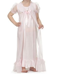 online shopping for Laura Dare Little Girls Short Sleeve Peignoir Nightgown  Robe Set w Scrunch from top store. See new offer for Laura Dare Little Girls  ... a5f0f89fd