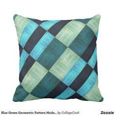 elegant geometric pattern throw pillow - pillows home decor diy cyo pillow design Colorful Throw Pillows, Modern Throw Pillows, Blue Pillows, Accent Pillows, Designer Pillow, Designer Throw Pillows, Pillow Design, Geometric Pillow, Custom Pillows