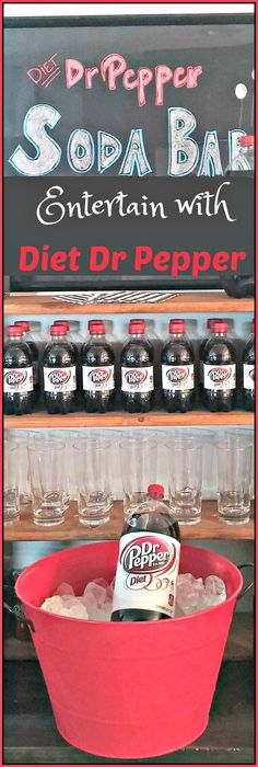 Find out how to make this Diet Dr Pepper Soda bar - perfect for any gathering!  Plus learn more about the #SummerFUNd contest at Walmart! #ad