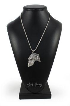 NEW Bullterrier silver hallmark 925 dog silver by ArtDogshopcenter Horse Necklace, Silver Chain Necklace, Silver Necklaces, Dog Tag Necklace, Doberman Pinscher Dog, Basset Hound Dog, Doberman Dogs, White Terrier, Fox Terrier