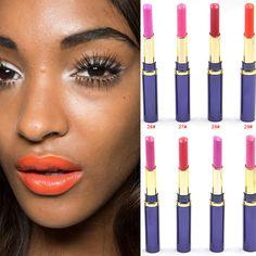 Famous Brand New  Korea Makeup Full Size Easy To Wear Orange Color Safe Standard Lipstick For Women Lips Make Up Health Lipstick