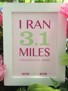 5k Race Finisher Framed Art inspired by Girls on the Run (GOTR) on Etsy, $15.00