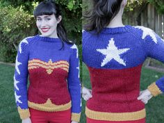 Amazing fan-made Wonder Woman sweater pattern to download and knit / Boing Boing