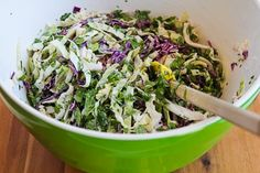 (S) Recipe for Spicy Cabbage Slaw with Chicken and Cilantro | Kalyn's Kitchen®