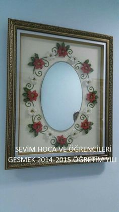 İğne oyası modelleri Christmas Decorations, Fine Art, Embroidery, Mirror, My Favorite Things, Pretty, Home Decor, Salons, Hand Embroidery